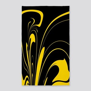 Black and Yellow Area Rug