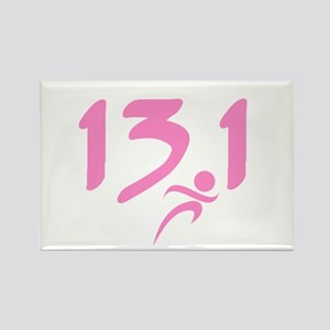 Pink 13.1 half-marathon Rectangle Magnet