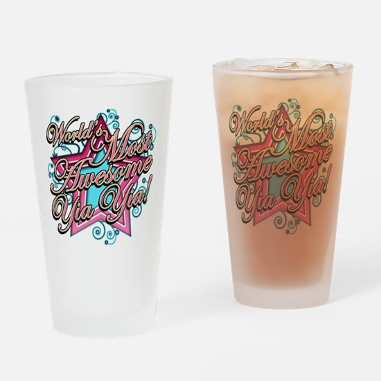 Worlds Best Yia Yia Drinking Glass