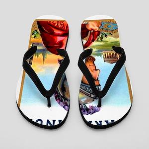 Carabinus Roman Soldier Cigar Label Flip Flops
