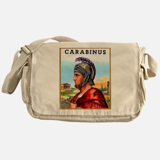 Carabinus Roman Soldier Cigar Label Messenger Bag
