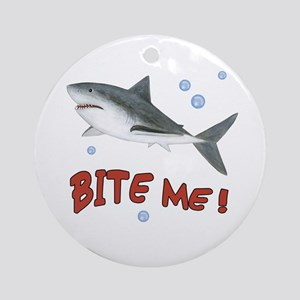 Shark - Bite Me Ornament (Round)