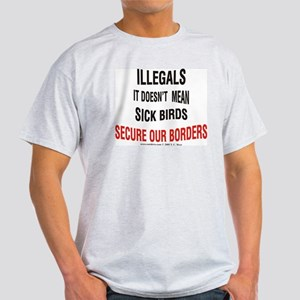 Illegals - Not Sick Birds Ash Grey T-Shirt