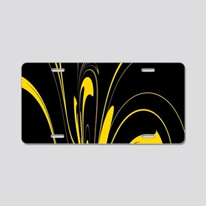 Black and Yellow Aluminum License Plate