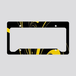 Black and Yellow License Plate Holder
