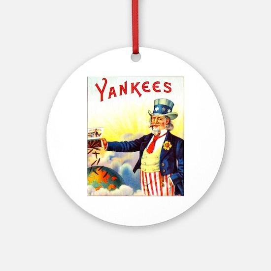 Yankees Cigar Label Ornament (Round)