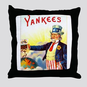Yankees Cigar Label Throw Pillow