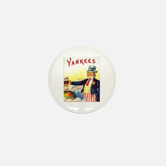 Yankees Cigar Label Mini Button