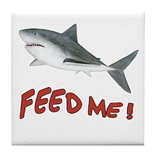 Shark - Feed Me Tile Coaster