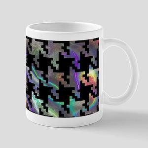 hologram houndstooth Mugs