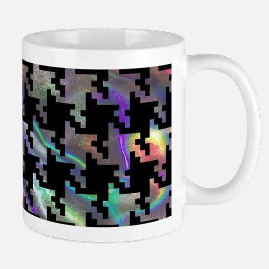 hologram houndstooth Mugs
