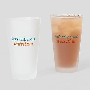 Talk Nutrition Drinking Glass