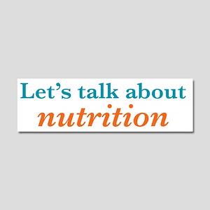 Talk Nutrition Car Magnet 10 x 3