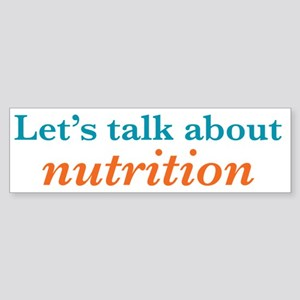 Talk Nutrition Sticker (Bumper)