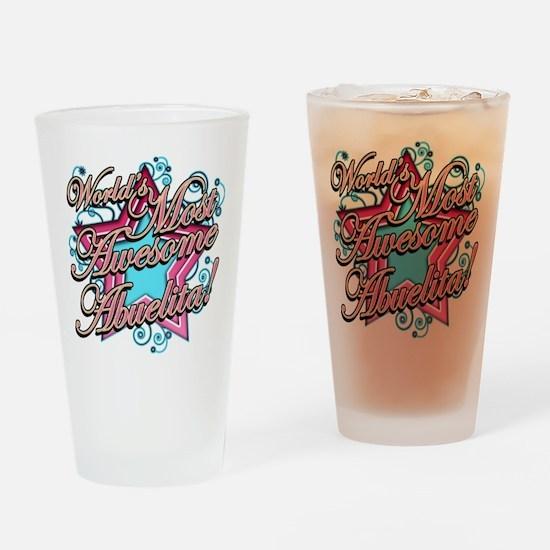 Worlds Best Abuelita Drinking Glass