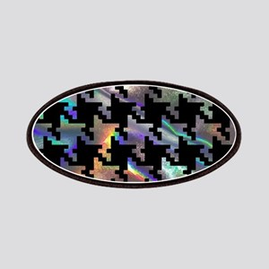 hologram houndstooth Patch