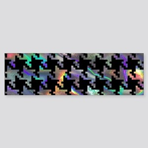 hologram houndstooth Bumper Sticker