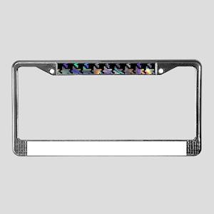 hologram houndstooth License Plate Frame