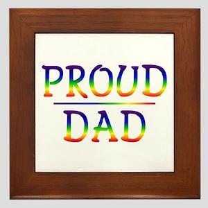 Proud Dad Framed Tile