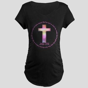 John 3:16 Maternity Dark T-Shirt