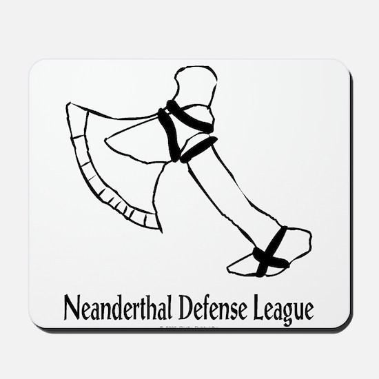 Neanderthal Defense League Mousepad