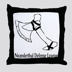 Neanderthal Defense League Throw Pillow