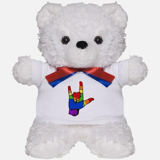 Rainbow I Love You Teddy Bear