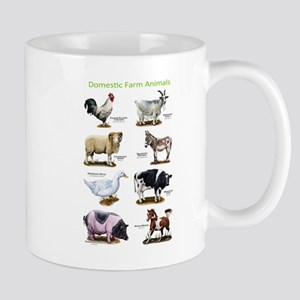 Domestic Farm Animals Mug