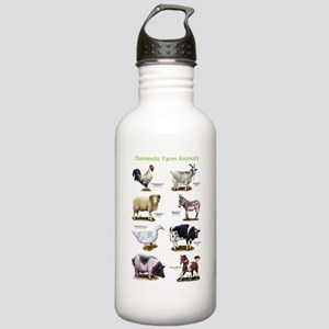 Domestic Farm Animals Stainless Water Bottle 1.0L