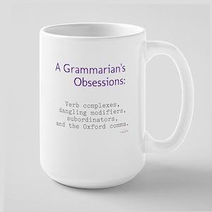 Grammarian's Obsessions Large Mug