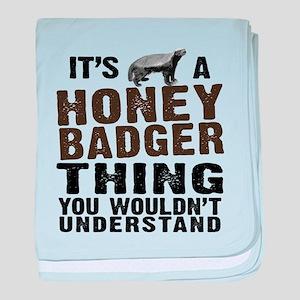 Honey Badger Thing baby blanket