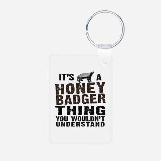 Honey Badger Thing Keychains