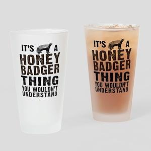 Honey Badger Thing Drinking Glass
