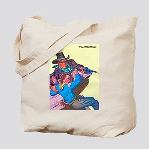 Wild West Cowboy Cowgirl Danger Tote Bag
