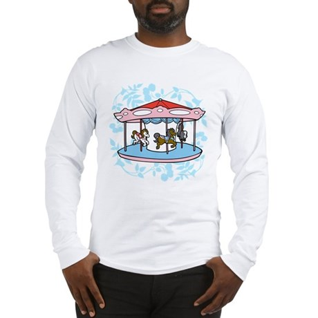 Carousel Pink and Blue Long Sleeve T-Shirt