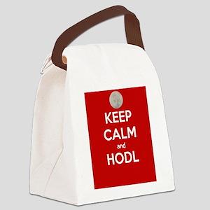 Keep Calm and Hodl Canvas Lunch Bag