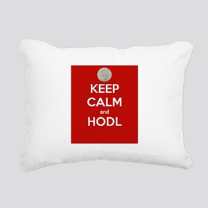 Keep Calm and Hodl Rectangular Canvas Pillow
