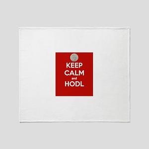 Keep Calm and Hodl Throw Blanket