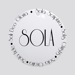 5 Solas Ornament (Round)