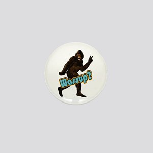 Bigfoot Sasquatch Yetti Wassup Mini Button