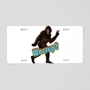 Bigfoot Sasquatch Yetti Wassup Aluminum License Pl