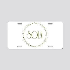 5 Solas Aluminum License Plate