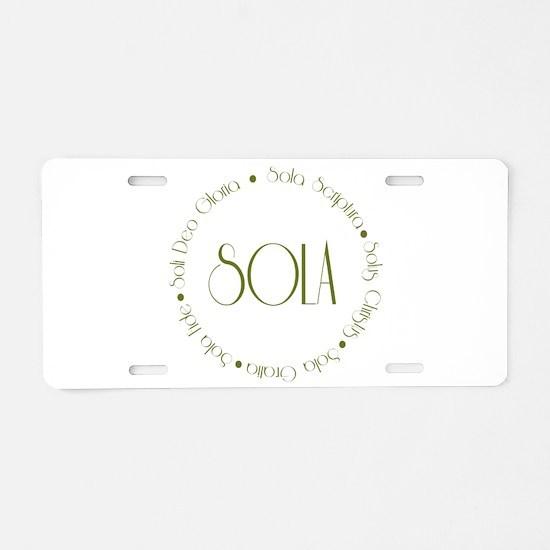 5 Solas Aluminum License Plate