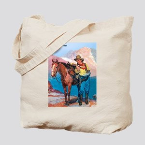 Wild West Gold Rush Prospector Tote Bag