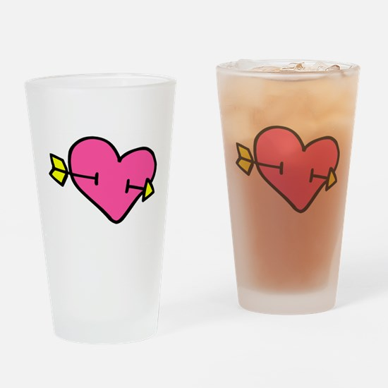 Shot By Cupid Drinking Glass