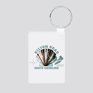Hilton Head South Carolina Aluminum Photo Keychain