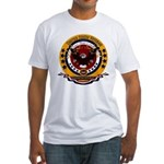 Dominican Republic Veteran Fitted T-Shirt