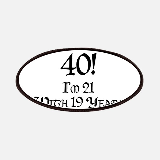 Classy 40th Birthday Patches