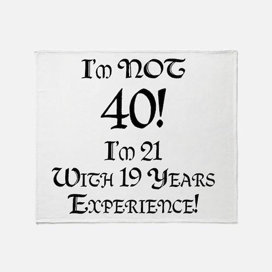 Classy 40th Birthday Throw Blanket