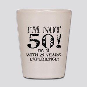 Fiftieth Birthday Shot Glass